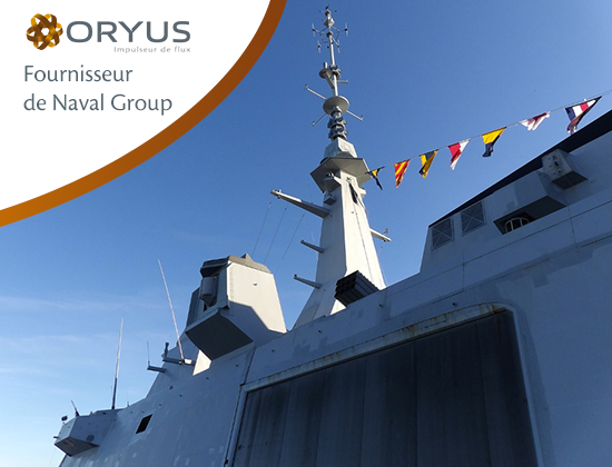 ORYUS fournisseur officiel de Naval Group