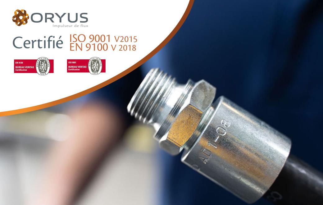 ORYUS conforte sa démarche qualité aux normes EN 9100 ET ISO 9001.